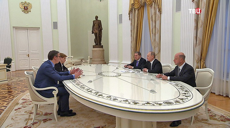 Владимир Путин на встречи с председателем правительства Сербии Александра Вучича