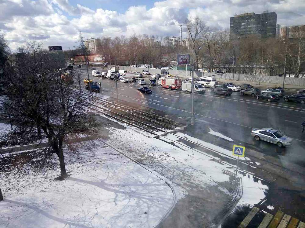 Последствия ДТП на Варшавском шоссе