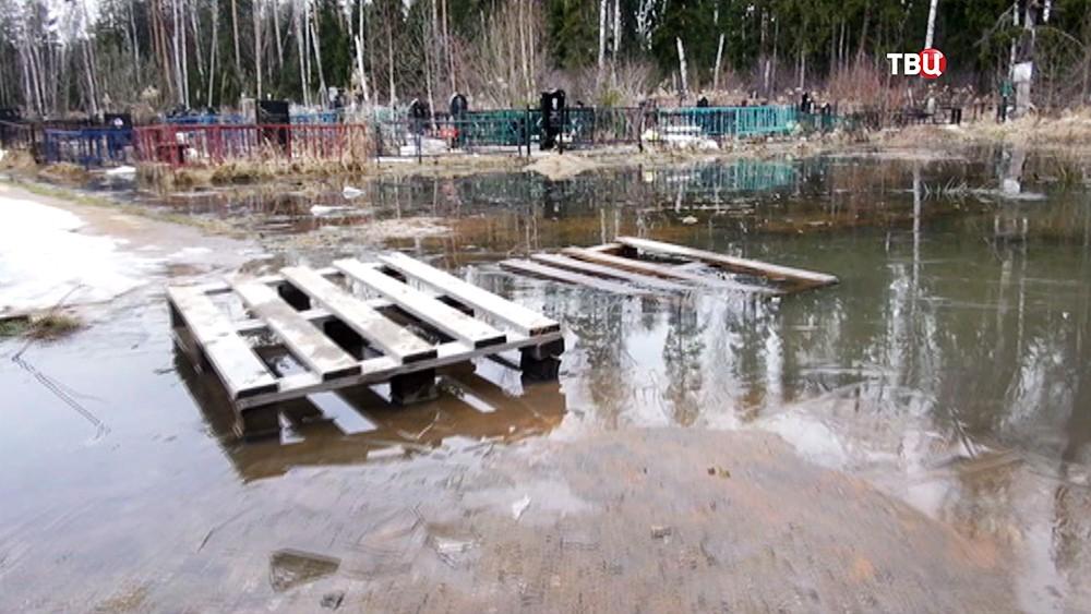 Кладбище в зоне паводка