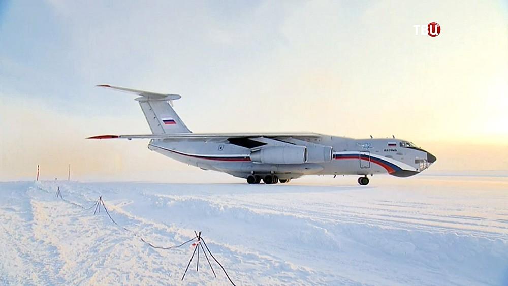 Самолет Президента России на аэродроме архипелага Земля Франца-Иосифа