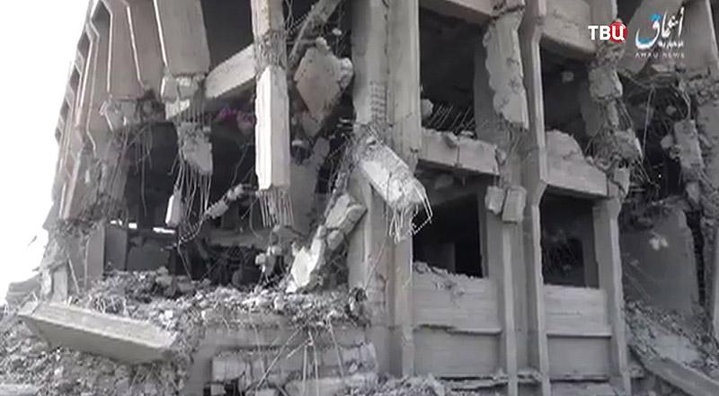 Последствия взрывов в Сирии