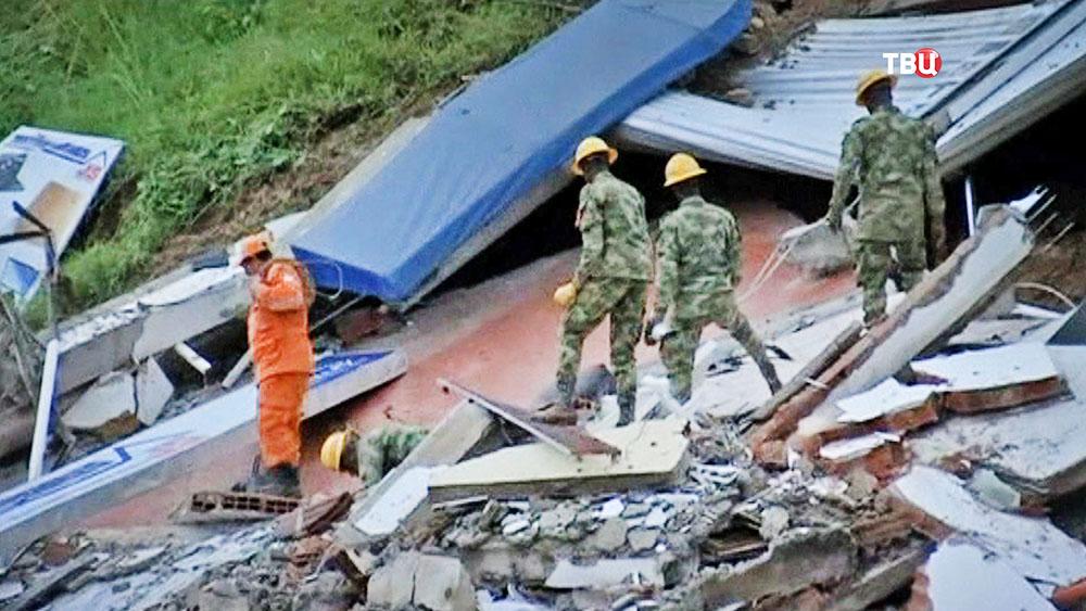 Спасатели Колумбии на месте ЧП