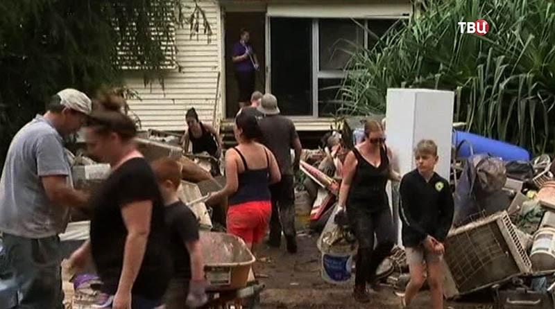 Последствие урагана в Австралии