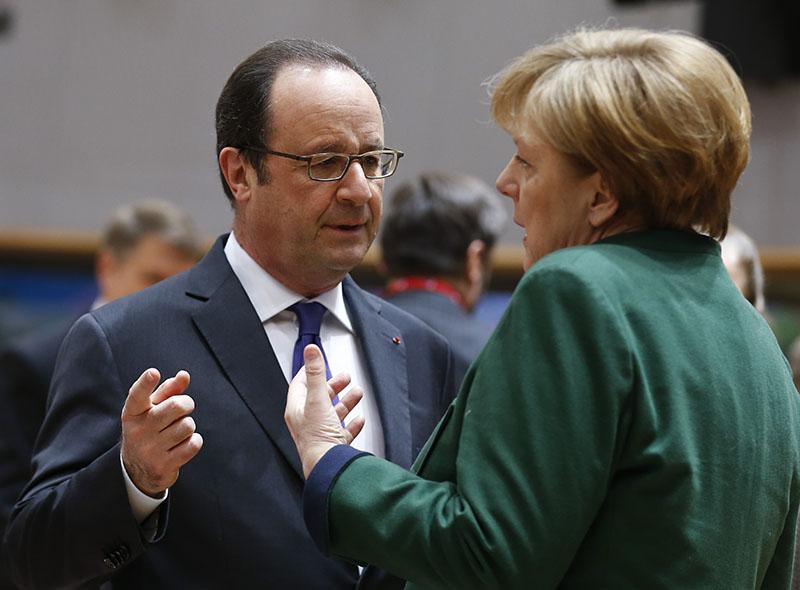Канцлер Германии Ангела Меркель и президент Франции Франсуа Олланд