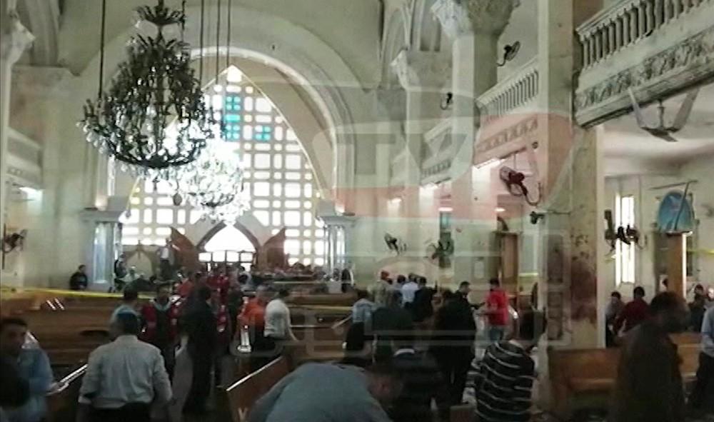 На месте взрыва в Египте