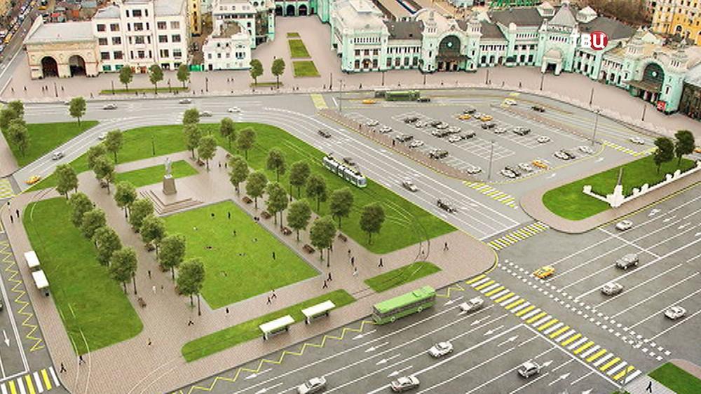 Проект благоустройства площади Тверской заставы
