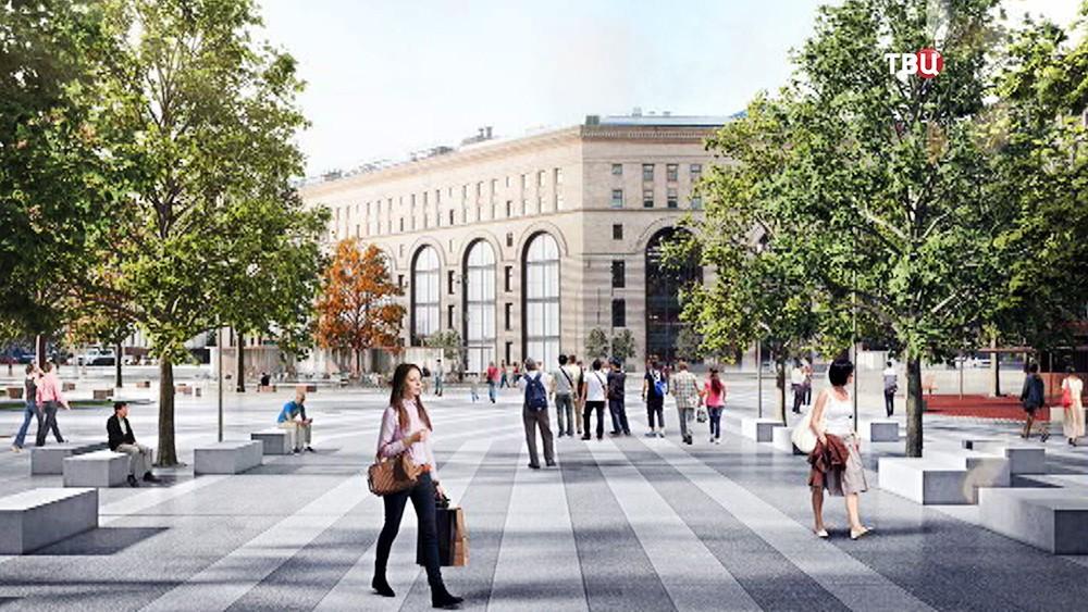 Проект благоустройства Лубянской площади