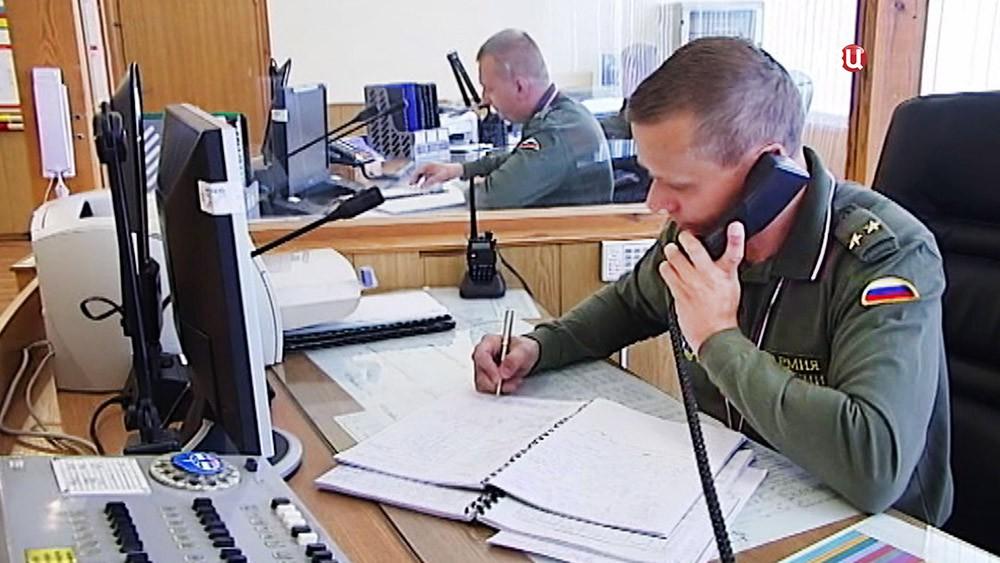Работа центра дальней космической связи в Крыму