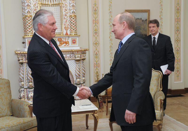 Встреча Владимира Путина и Рекса Тиллерсона в 2012 году