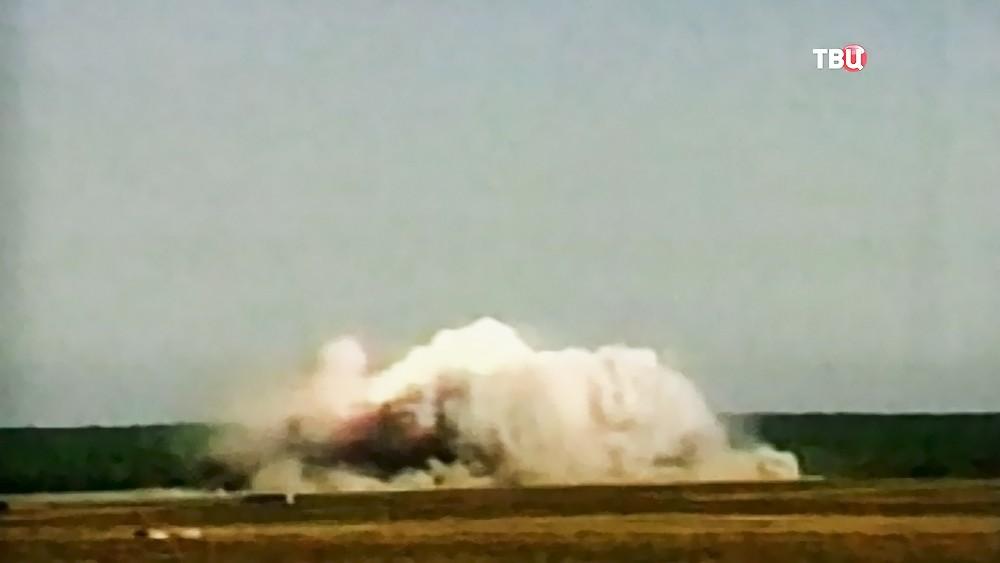 Последствия взрыва сверхмощной бомбы GBU-43/B Massive Ordnance Air Blast Bomb