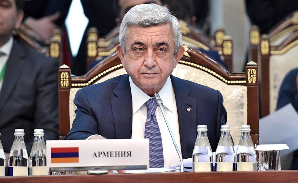 Экс-президент Армении Серж Саргсян
