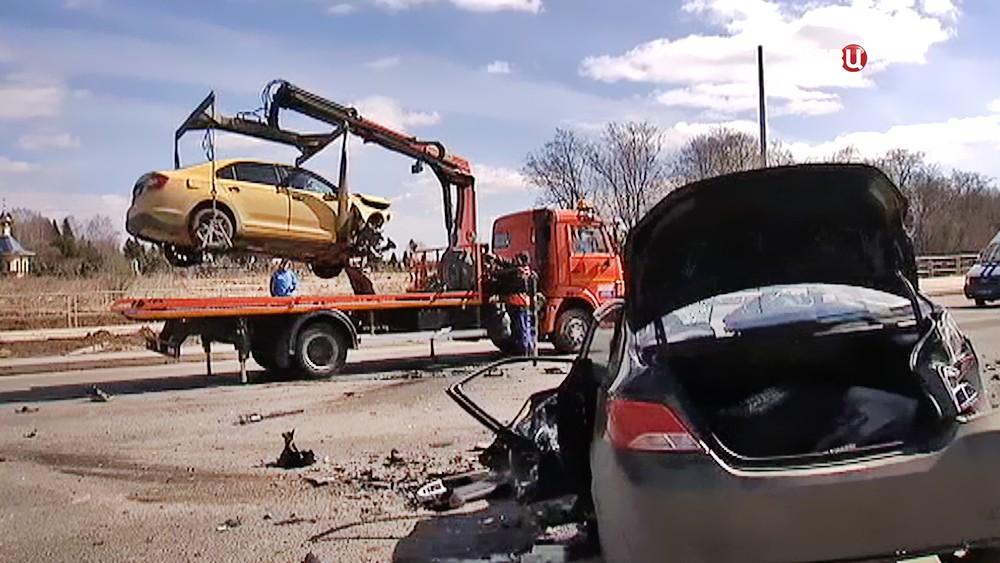 Последствия ДТП с участием двух машин