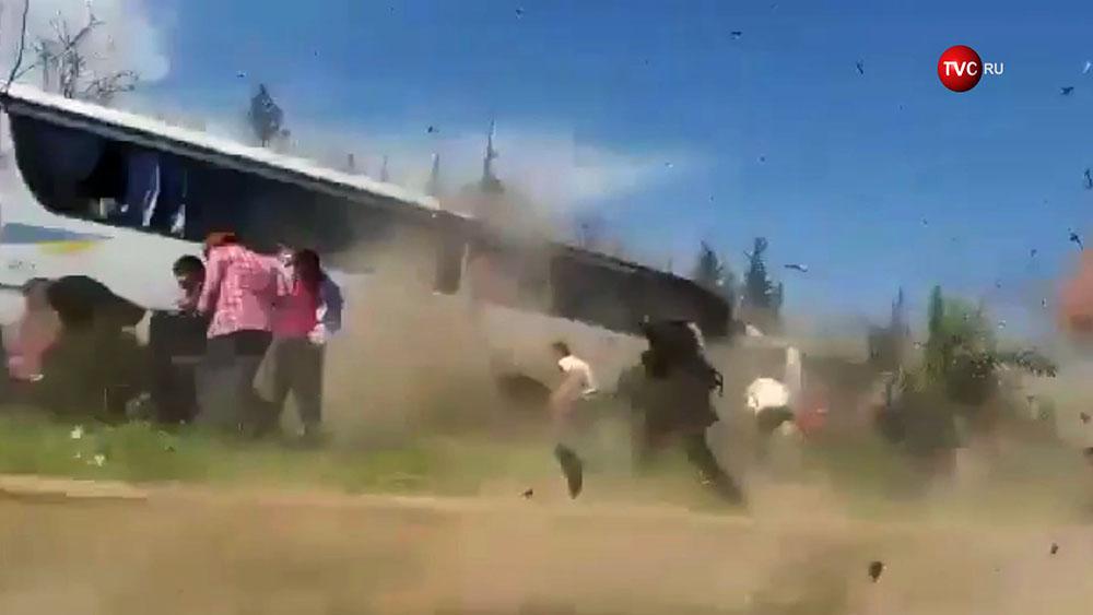 Мосент взрыва в Алеппо