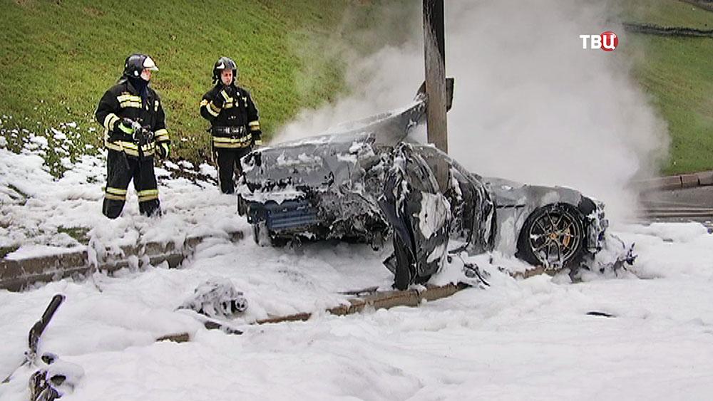 Последствия ДТП с Maserati