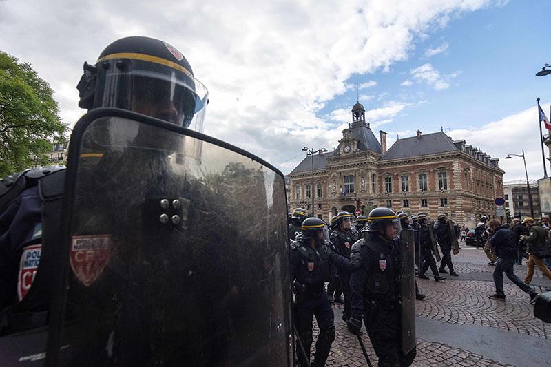 Полиция Франции во время акции протеста