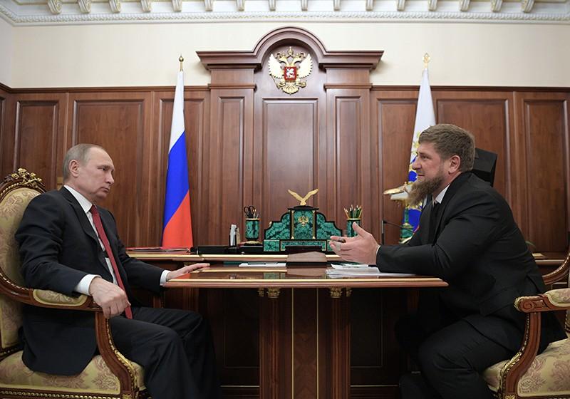 Президент России Владимир Путин и глава Чеченской Республики Рамзан Кадыров