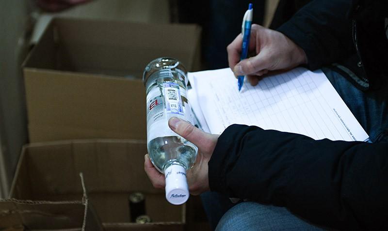 Рейд по выявлению точек продажи контрафактного алкоголя