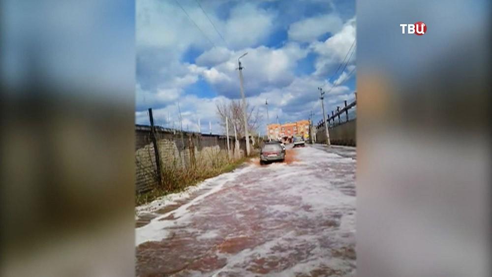 Реки cока из-за обрушения склада PepsiCo в городе Лебедянь