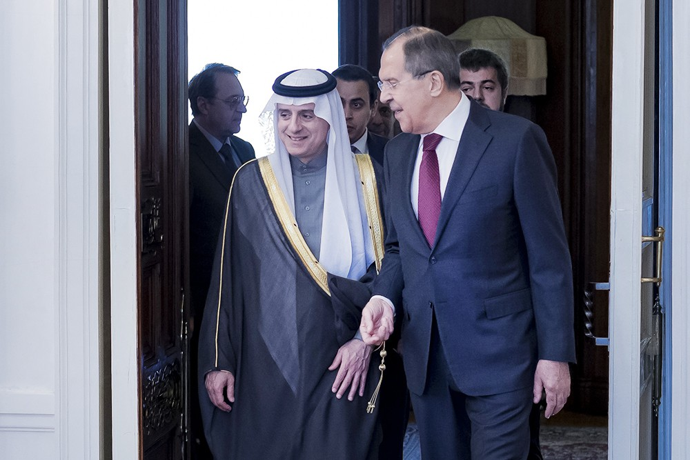 Глава МИД России Сергей Лавров и министр иностранных дел Саудовской Аравии Адель Аль-Джубейр