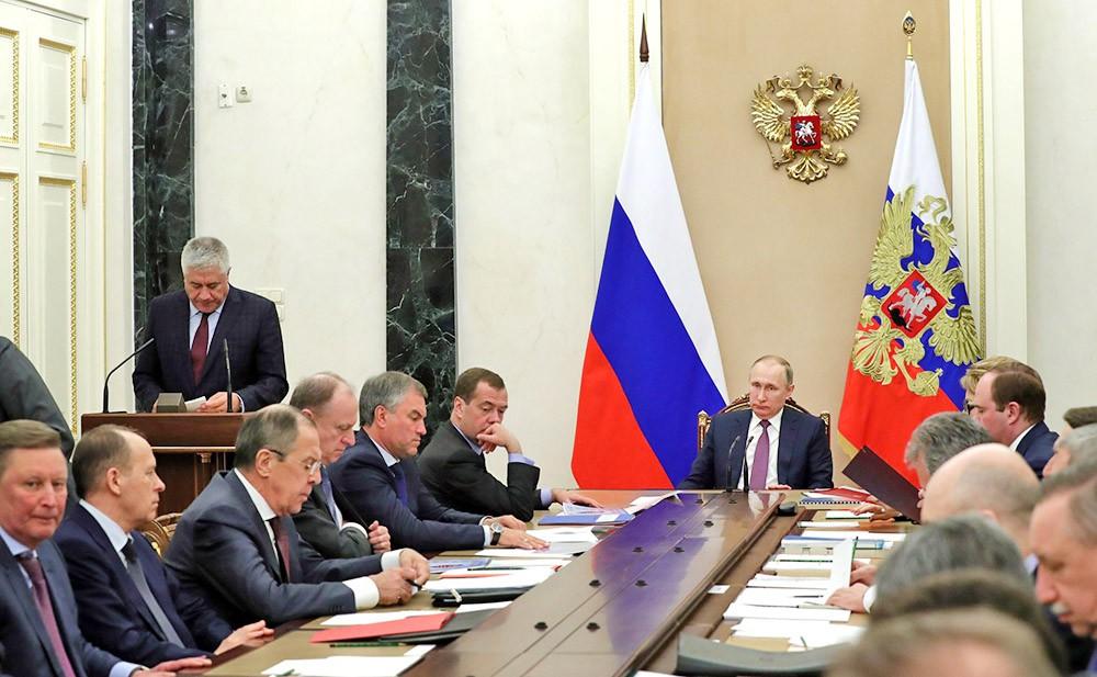 Владимир Путин провёл заседание Совета Безопасности