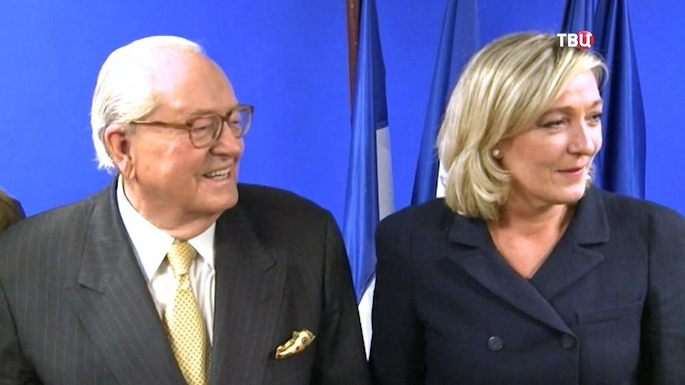 Жан-Мари Ле Пен и Мари Ле Пен