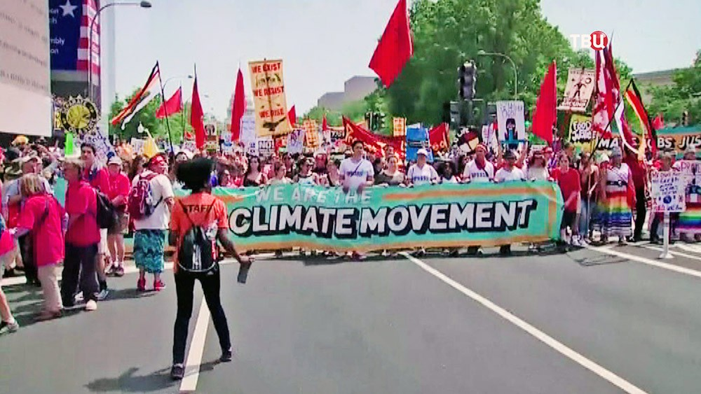 Экологическая демонстрация в США