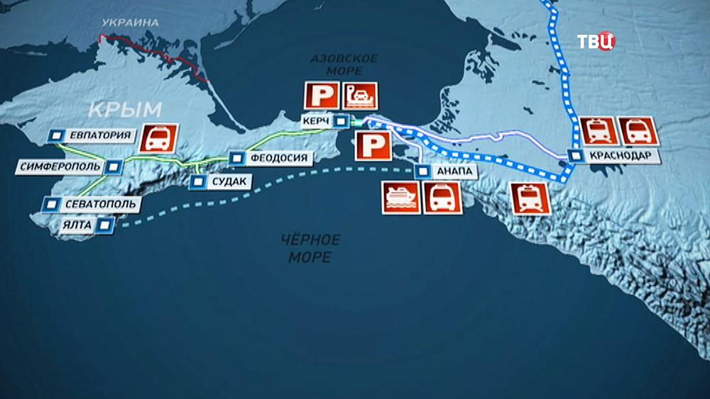 Транспортное сообщение с Крымом