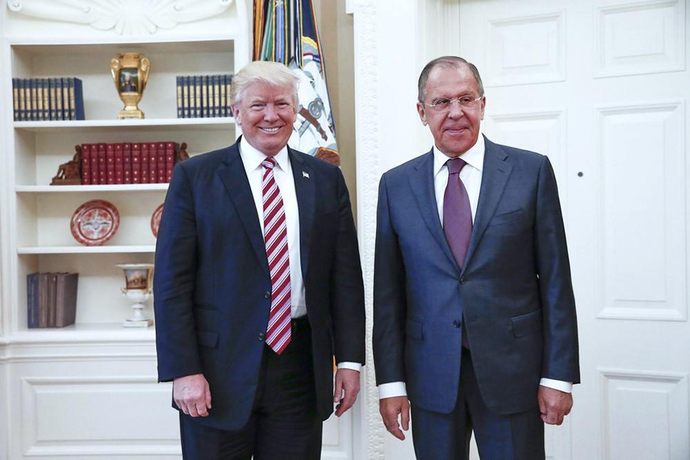 Сергей Лавров и Дональд Трамп