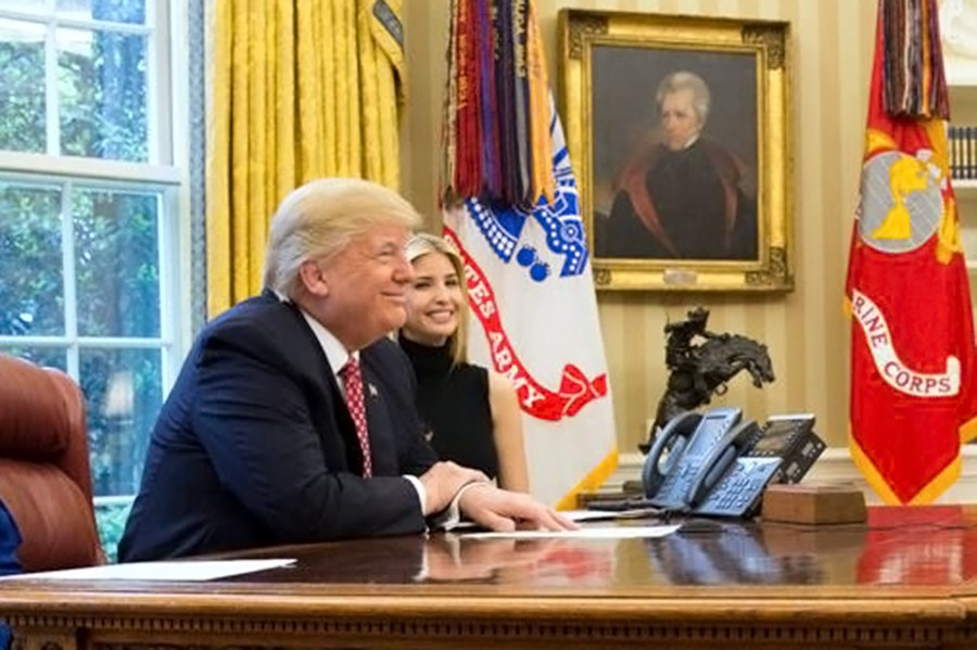 Дональд и Иванка Трамп
