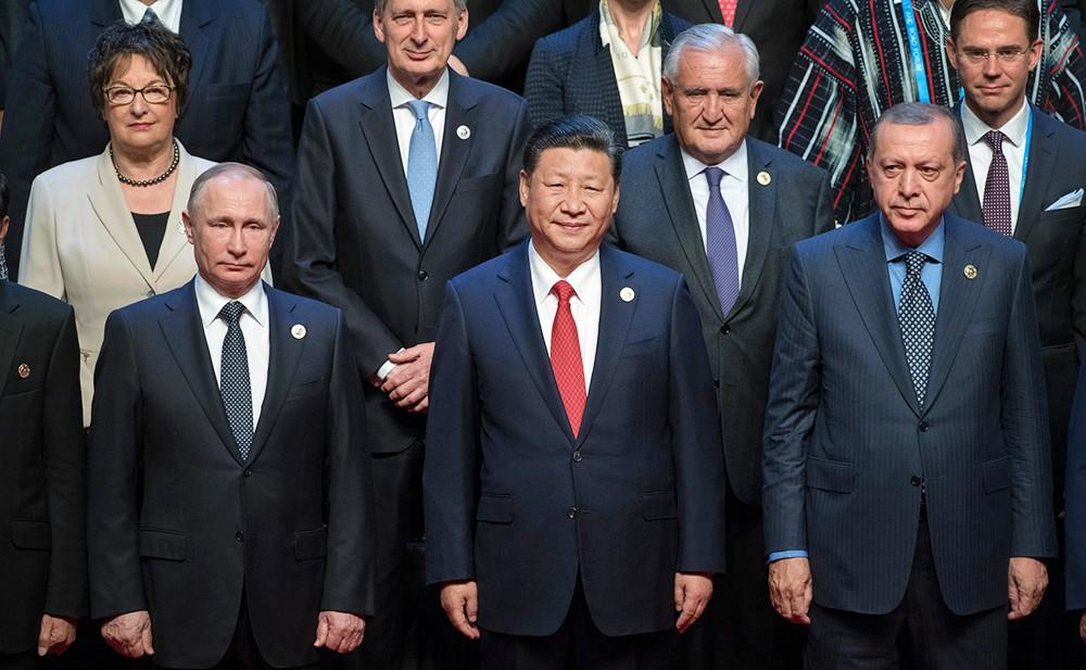 Владимир Путин, Си Цзиньпин и Реджеп Тайип Эрдоган