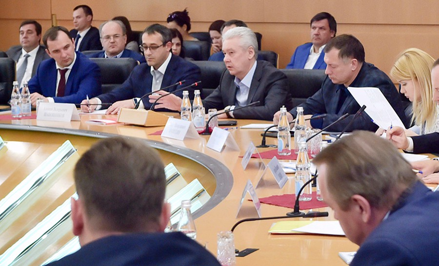 Сергей Собянин на заседании президиума в Мосгордуме