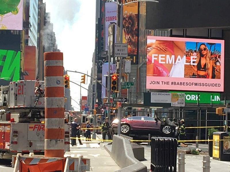 Последствия наезда на толпу в Нью-Йорке