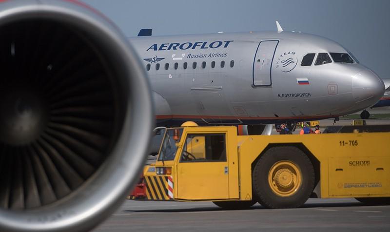 Самолет Airbus авиакомпании Аэрофлот