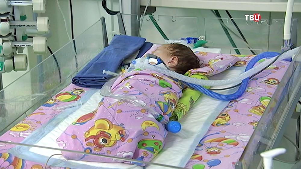 Новорожденный ребенок в больнице