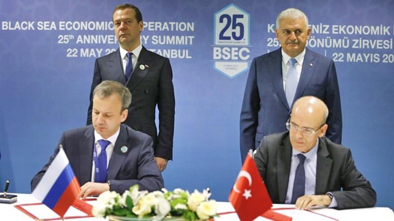 Подписание совместного заявления о двустороннем снятии ограничений в торговле