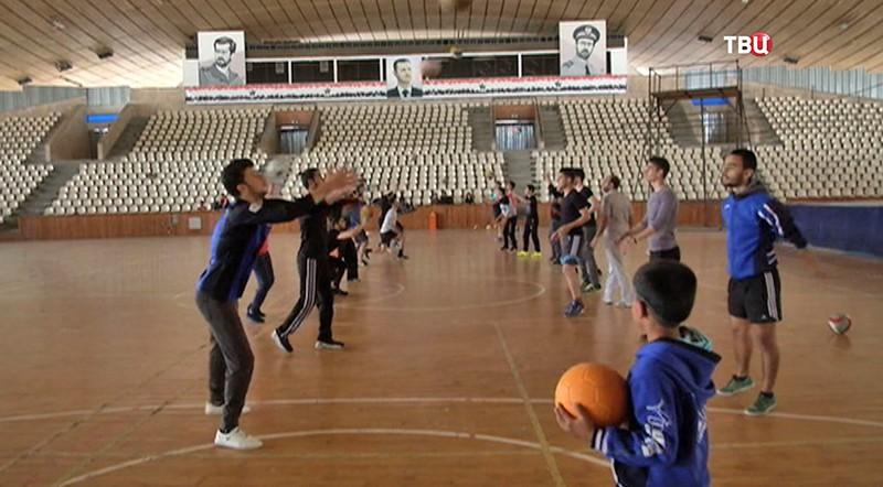Сирийские дети занимаются спортом