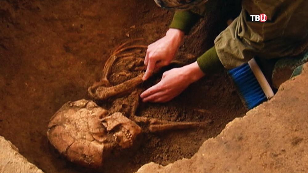 Древние человеческие останки найденные при археологических раскопках