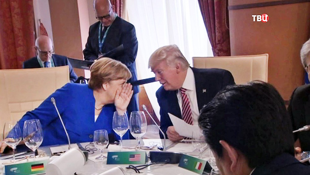Дональд Трамп и Ангела Меркель