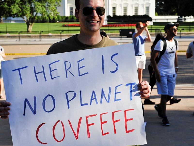 Акция против выхода США из соглашения по климату