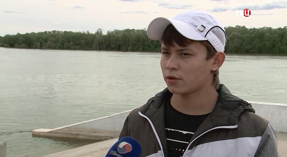 Александр Ергин, спасший из воды трех утопающих