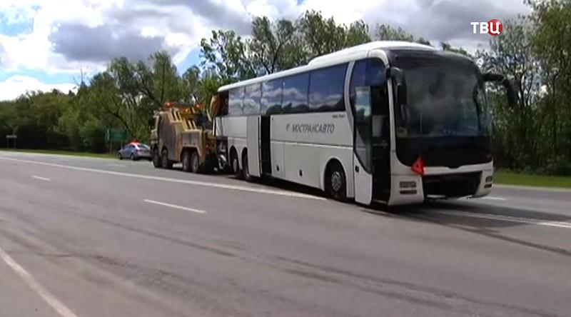 ДТП с участием двух автобусов в Подмосковье