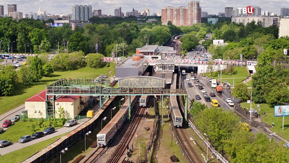 Открытая часть Филевской ветки метро
