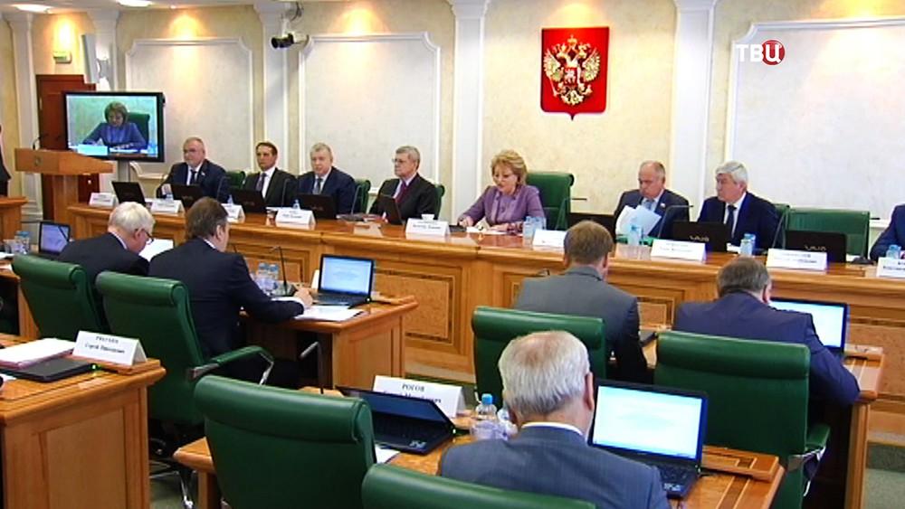 Заседание редставителей российских министерств и ведомств в Совете Федерации РФ