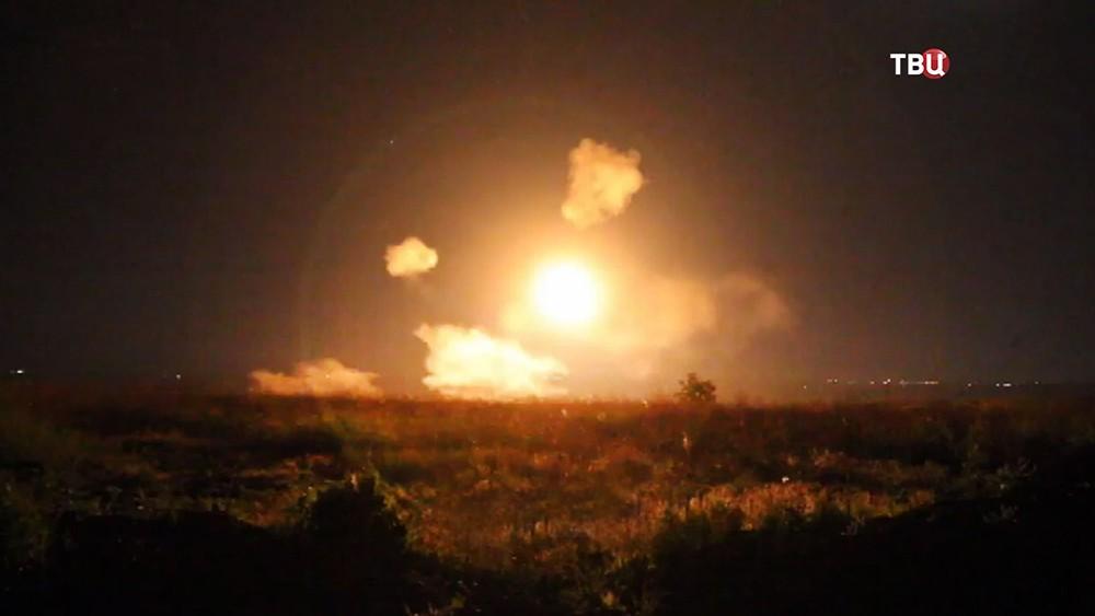 Обстрел жилых кварталов в Донбассе