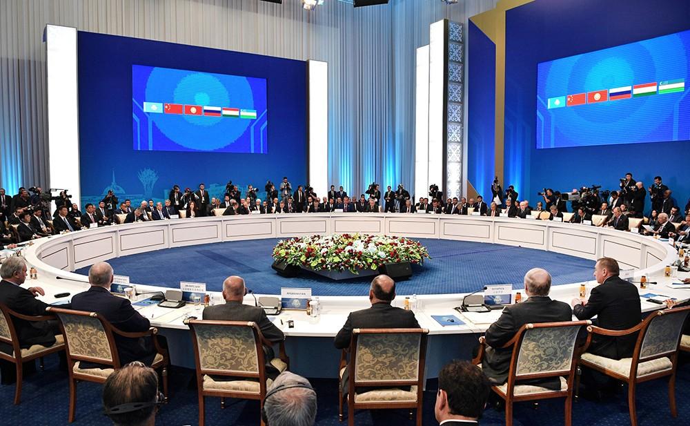 Заседание Совета глав государств – членов Шанхайской организации сотрудничества (ШОС) в расширенном составе