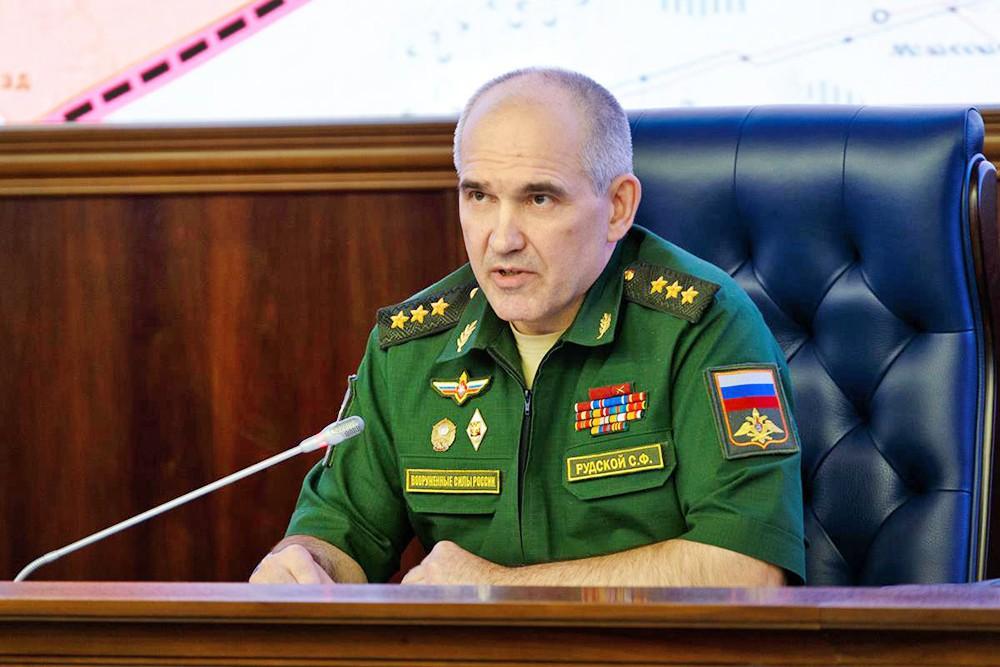 Сергей Рудской на брифинге