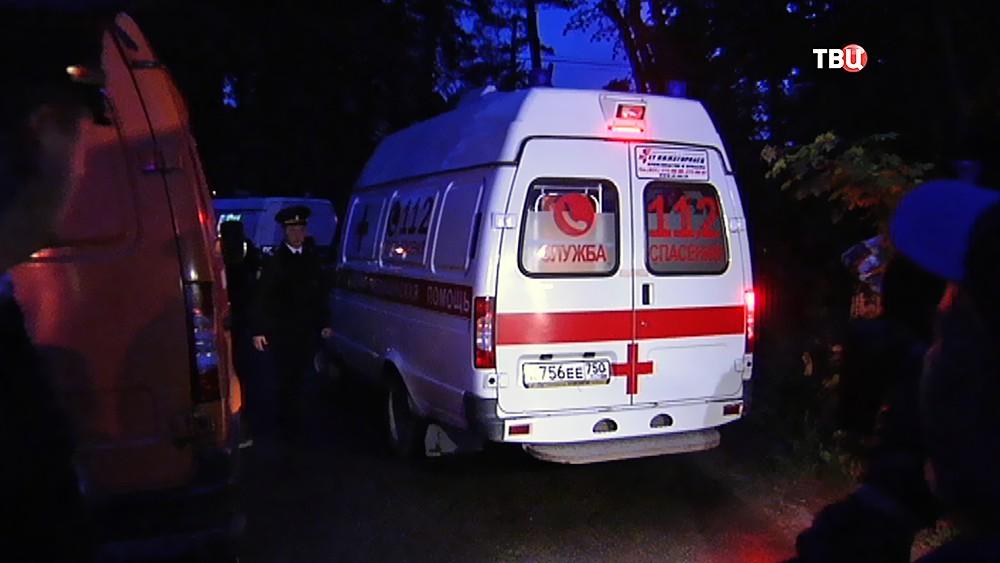 Скорая помощь на месте спецоперации в поселке Кратово