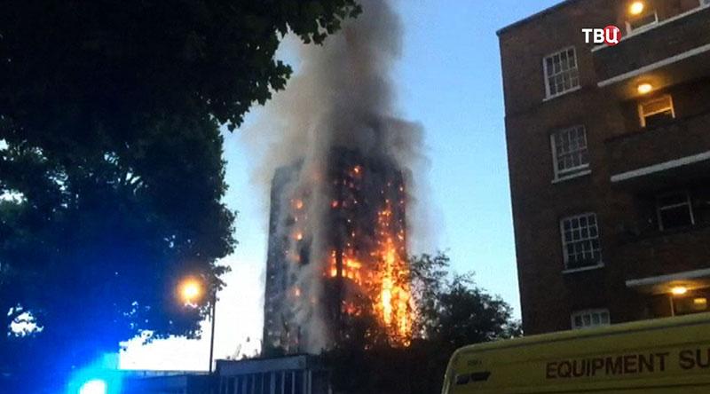 Пожар высотного здания в Лондоне