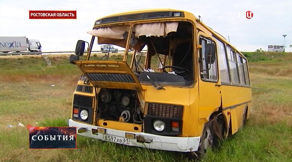 ДТП с участием двух автобусов в Ростовской области