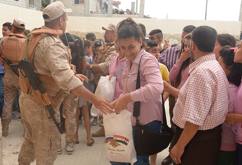 Гуманитарная помощь жителям Сирии